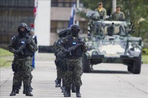 Pelotón de militares hondureños en opersa